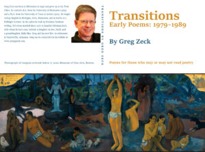Transitions, first book poetry